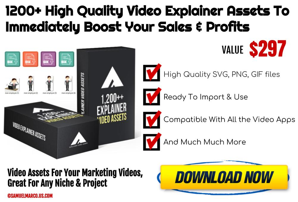 1200+ Video Explainer Assets White Label