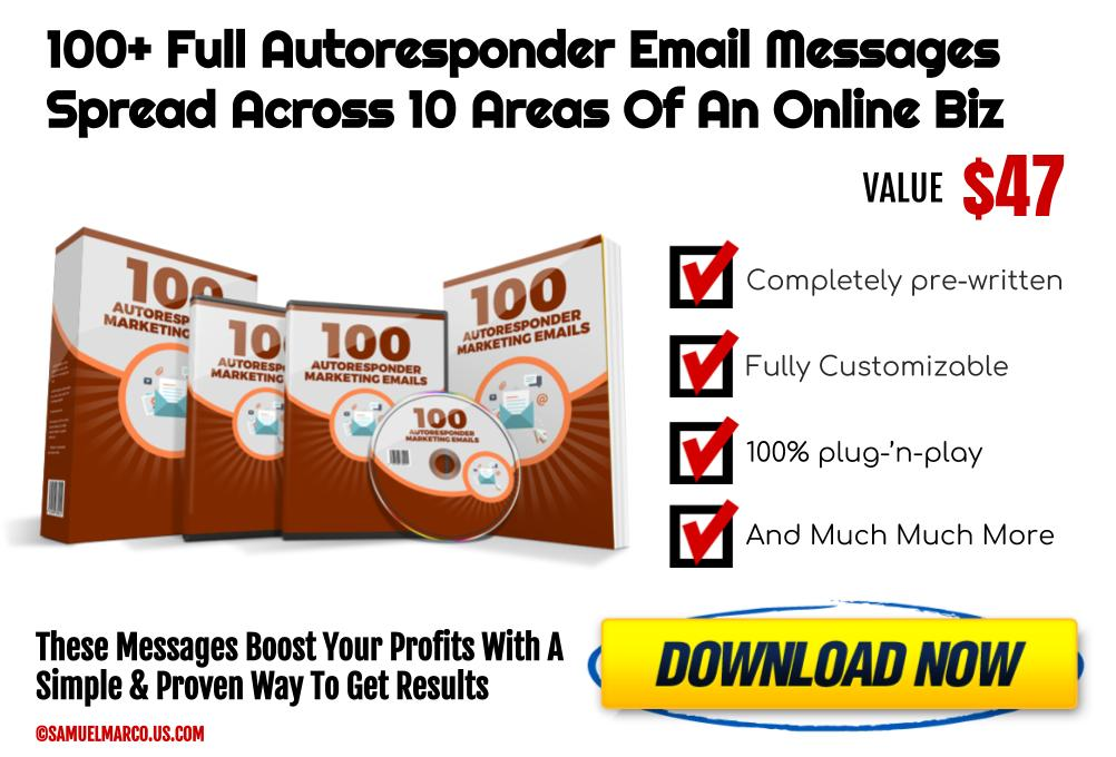 100+ AutoResponder Marketing Emails