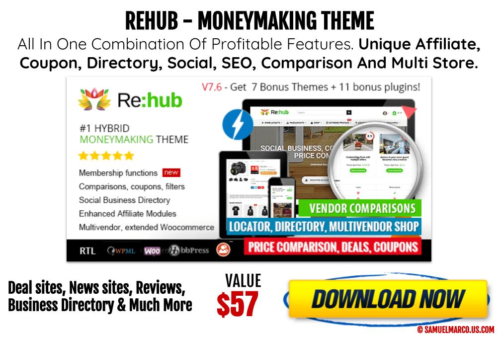 ReHub Money Making WP Theme
