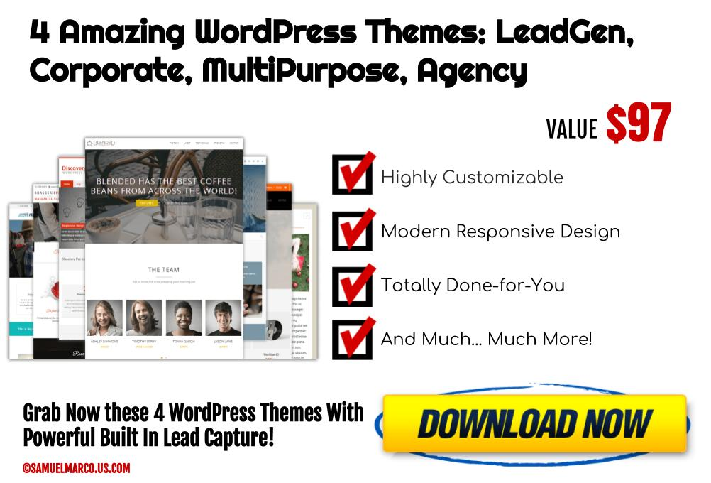 4 LeadCapture WP Themes